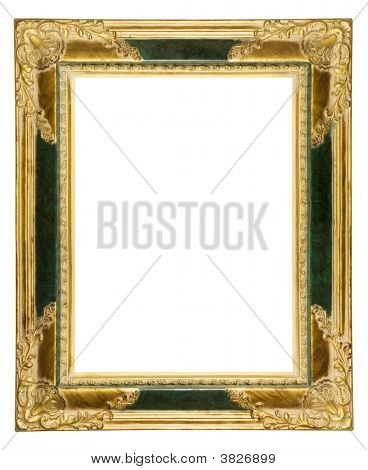 Dusty Ornate Old Gold Picture Frame