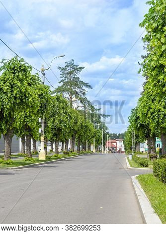 Moscow, Russia - July 11, 2020: Vdnh Park At Sunny Summer Morning. Vdnh Is Popular Historical Place