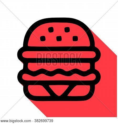 Hamburger Vector Icon. Hamburger Editable Stroke. Hamburger Linear Symbol For Use On Web And Mobile