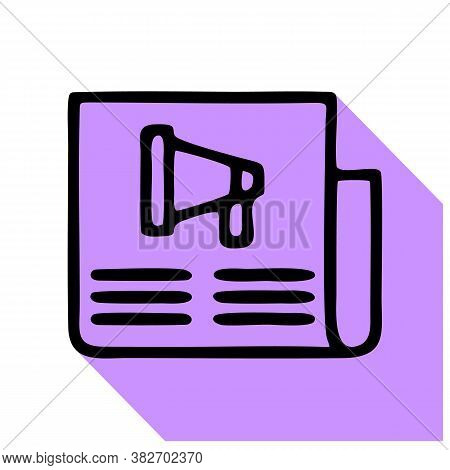 Newspaper Vector Icon. Newspaper Editable Stroke. Newspaper Linear Symbol For Use On Web And Mobile