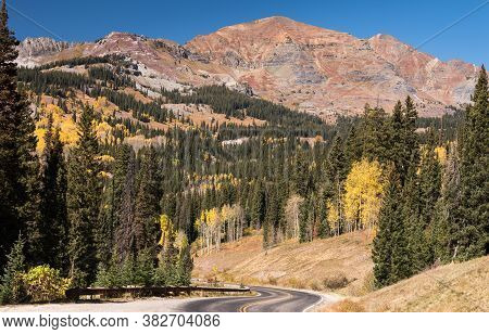 Kebler Pass Scenic Road In Gunnison National Forest Colorado.\ngunnison County Road 12 Is Known As T