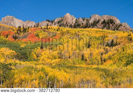Ruby Peak Is 12,644 Feet Within The Ruby Range, Located In Gunnison National Forest, Colorado.