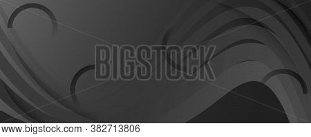 Gray Digital Background. Fluid Abstract Motion. Vivid Futuristic Shapes. Business Digital Background