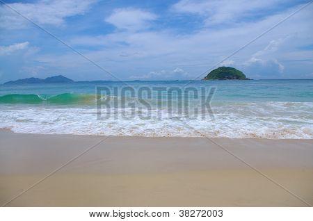 beautiful island under blue sky at south chian