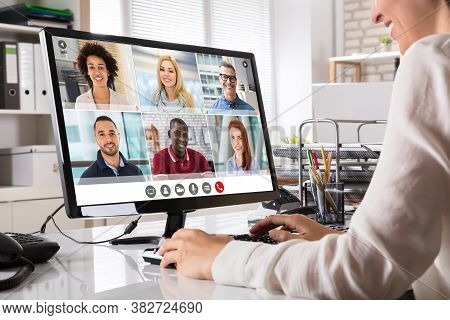 Online Video Conference Business Meeting Call Or Webinar