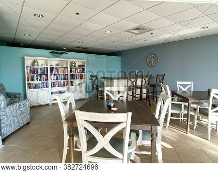 Ft. Pierce, Fl/usa - 7/11/20:  A Condominium Party Room Decorated In A Beach Theme In Florida.