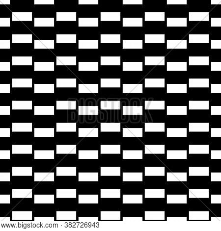 Seamless Surface Pattern Design With Blocks. Jagged Bars. Rectangle Slabs Lines Vector. Repeated Sto