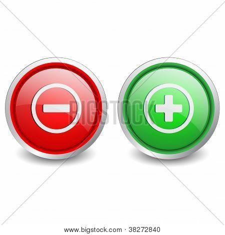 2 popular buttons - plus and minus