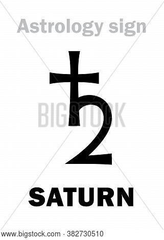 Astrology Alphabet: Saturn (cronus / Chronos / Kronos), Classic Major Planet. Astrological Character