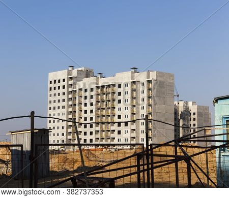 Construction Of Apartment Houses In The Developing Area Of The City, The Construction Site For The C
