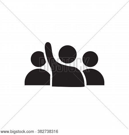 Human Raised Hand Icon Vector For Your Web Site Design, Logo, App, Ui. Illustration