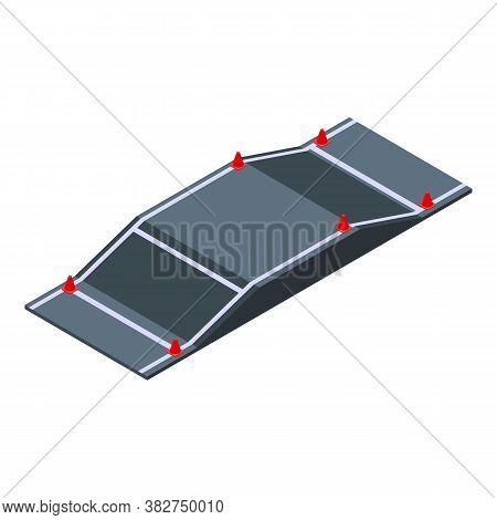 Driving School Bridge Icon. Isometric Of Driving School Bridge Vector Icon For Web Design Isolated O
