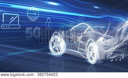 Concept Of 5g Network. New Generation Networks, High-speed Mobile Internet, Business, Modern Technol