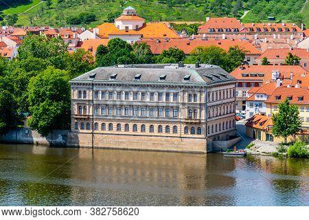 Lichtenstein Palace On Kampa Island In Prague, Czech Republic.
