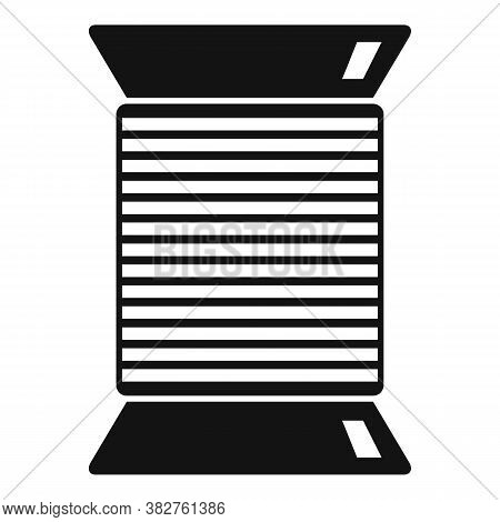 Thread Coil Icon. Simple Illustration Of Thread Coil Vector Icon For Web Design Isolated On White Ba