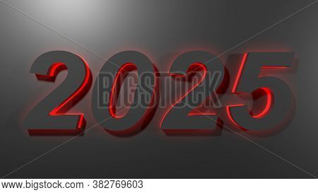 20205 Black Write On Black Surface With Red Backlight - 3d Rendering Illustration