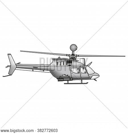 Isolated Helicopter Vector Illustration On A White Background