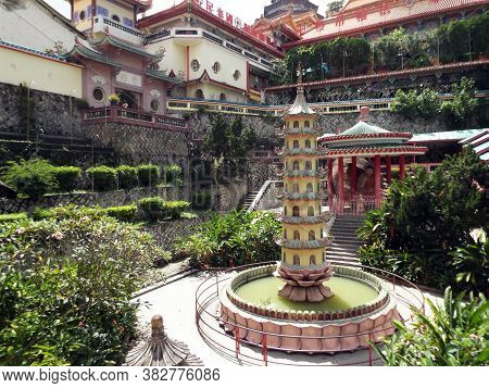 Penang, Malaysia, November 20, 2017: Reproduction Of The Rama Vi Pagoda (