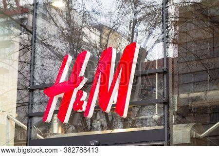 Prague, Czech Republic - December 24, 2012. H&M store sign. H&M is a Swedish multinational clothing-retail company.