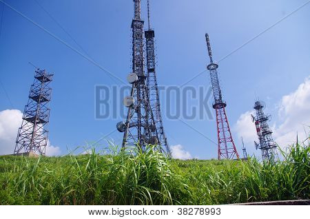 Telecom tower on the top of mountain