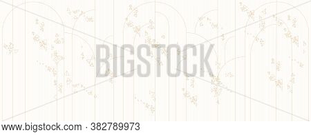 Abstract Background With Lines, Triangles And Arch Of Lines. Yelow Illustration