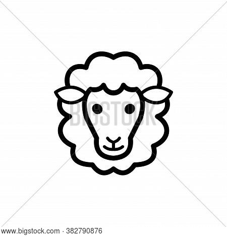 Sheep Icon Vector. Sheep Icon Black On White Background. Sheep Icon Simple And Modern For App, Web A