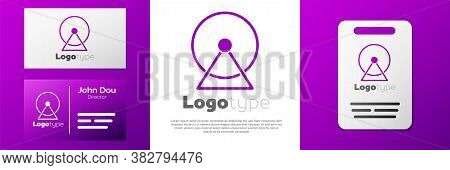 Logotype Hamster Wheel Icon Isolated On White Background. Wheel For Rodents. Pet Shop. Logo Design T