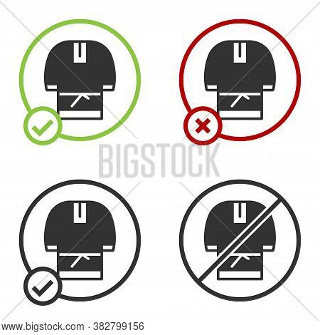 Black Kosovorotka Is A Traditional Russian Shirt Icon Isolated On White Background. Traditional Nati