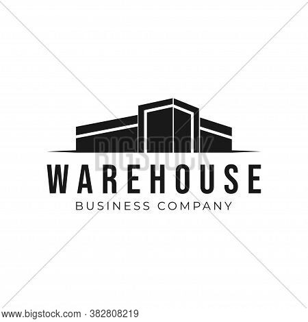 Industrial Manufacturing Building Logo Design. Industrial Factory And Warehouse Vector Design. Indus