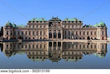 Wien, Vienna, Austria - August 28, 2014: Belvedere Palace