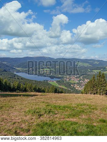 View To Popular Lake Titisee In Black Forest,germany