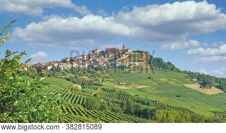 Wine Village Of La Morra Near Asti And Barolo In Piedmont,italy