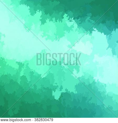Abstract Modern Vector Background, Square Format. Digitally Generated Contemporary Wallpaper. Turquo