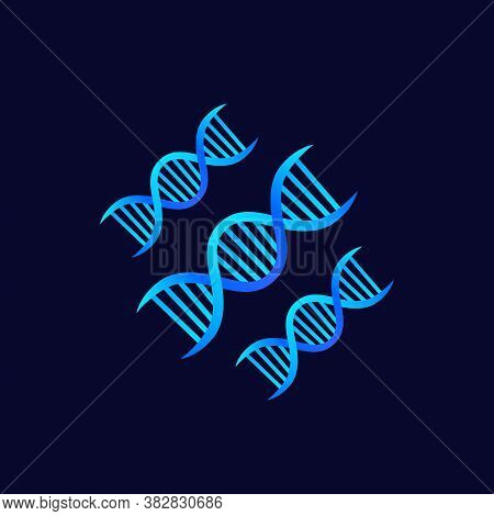 Dna Strands, Genetics Vector Icon, Eps 10 File, Easy To Edit