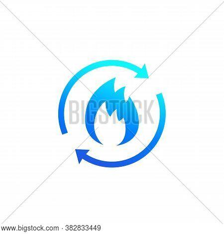 Metabolism, Metabolic Process Icon On White, Eps 10 File, Easy To Edit