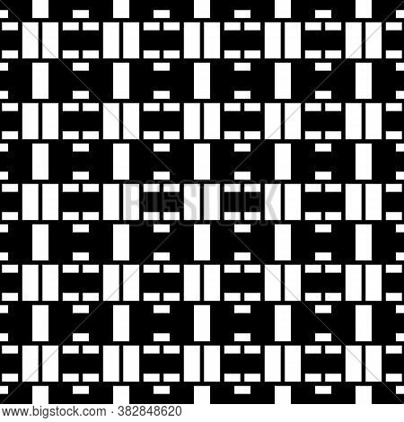 Seamless Surface Pattern Design With Blocks. Geometric Image. Rectangle Slabs Illustration. Repeated