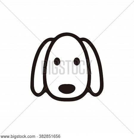 Vector Of Dog Head. Dog Icon Vector. Dog Icon Black On White Background. Dog Icon Simple And Modern