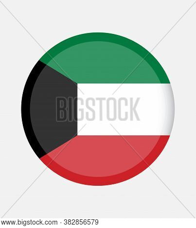 National Kuwait Flag Official Colors And Proportion Correctly. National Kuwait  Flag.