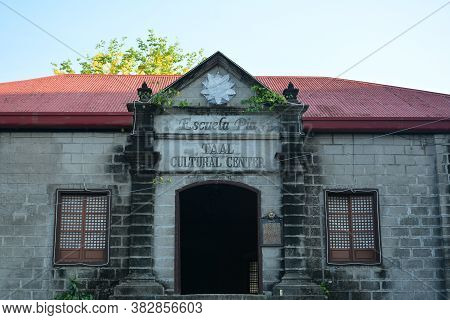 Batangas, Ph - May 4 - Taal Cultural Center Facade On May 4, 2019 In Batangas, Philippines.