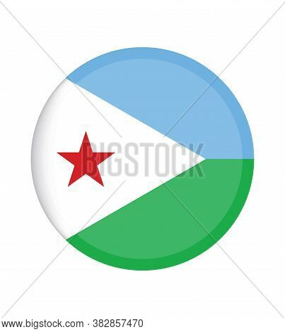 National Djibouti Flag, Official Colors And Proportion Correctly. National Djibouti Flag.