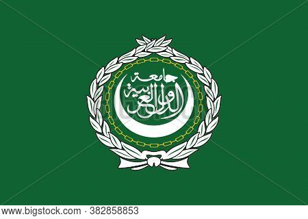 Arab League Flag, Official Colors And Proportion Correctly. Arab League Flag.