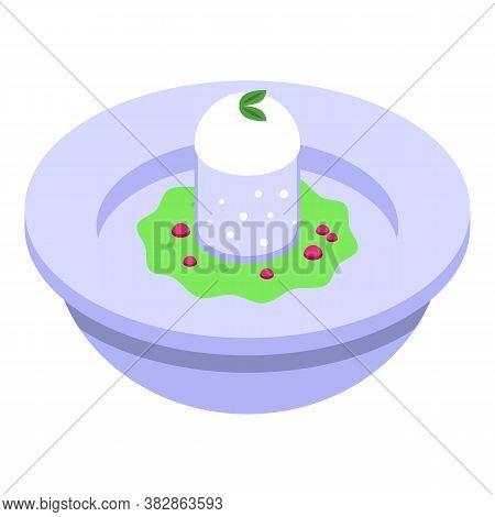 Cake Molecular Cuisine Icon. Isometric Of Cake Molecular Cuisine Vector Icon For Web Design Isolated