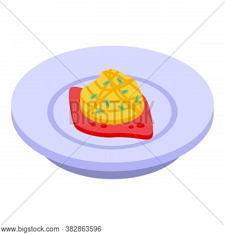 Gourmet Molecular Cuisine Icon. Isometric Of Gourmet Molecular Cuisine Vector Icon For Web Design Is