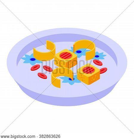Sushi Molecular Cuisine Icon. Isometric Of Sushi Molecular Cuisine Vector Icon For Web Design Isolat