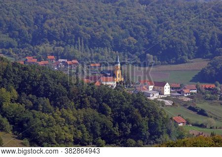 DESINIC, CROATIA - OCTOBER 18, 2013: Saint George Parish Church in Desinic, Croatia