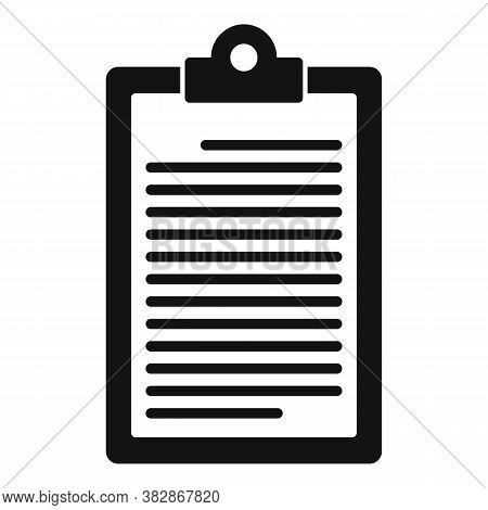 Conclusion Clipboard Icon. Simple Illustration Of Conclusion Clipboard Vector Icon For Web Design Is