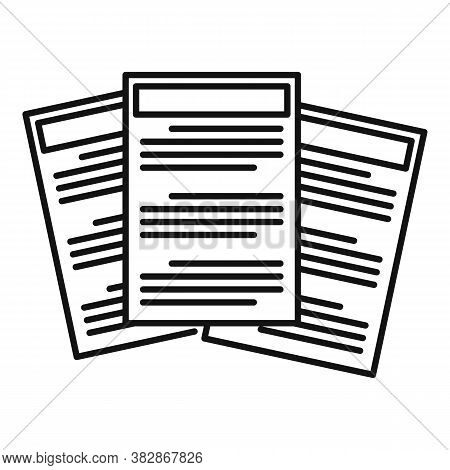 Conclusion Papers Icon. Outline Conclusion Papers Vector Icon For Web Design Isolated On White Backg