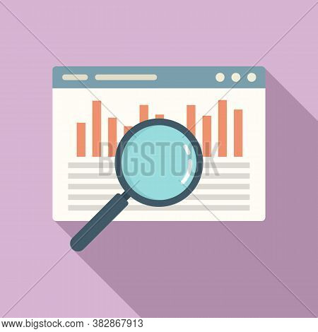 Web Audit Icon. Flat Illustration Of Web Audit Vector Icon For Web Design