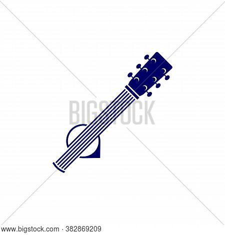 Guitar With Point Design Vector Template. Simple Set Of Electric Guitar Vector Icons