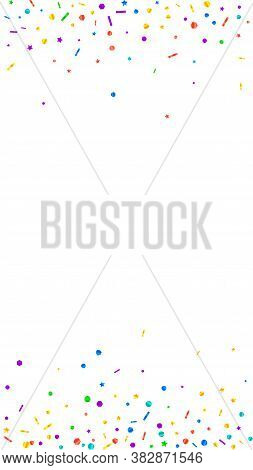 Festive Wonderful Confetti. Celebration Stars. Festive Confetti On White Background. Fetching Festiv